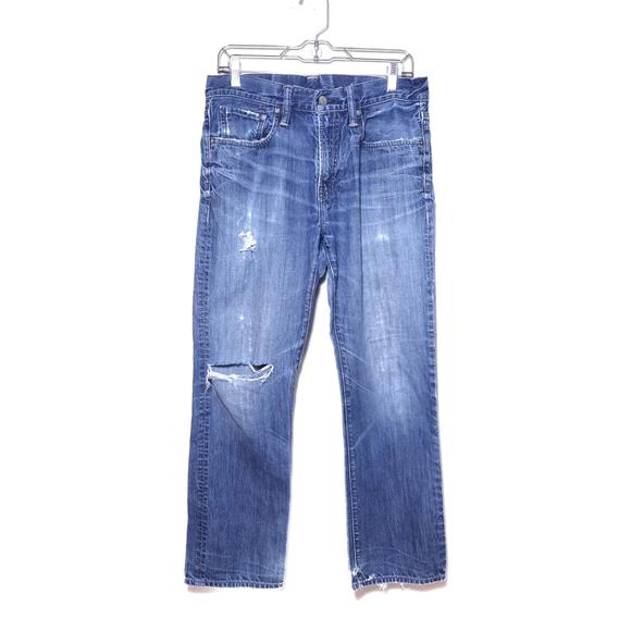 Gap Distressed Destroyed Straight Leg Jeans 30×30